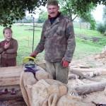 Medžio skulptūros Klovainiuose